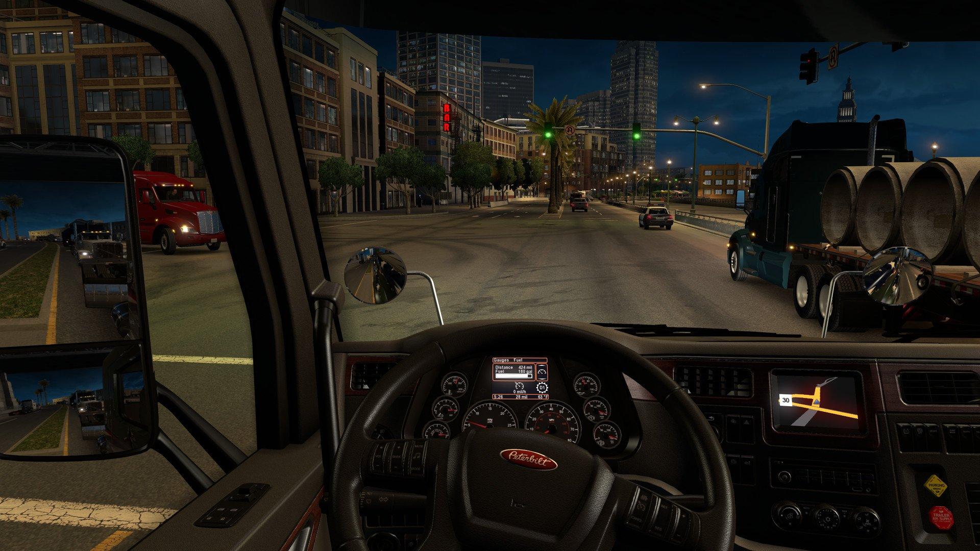 Скриншот к игре American Truck Simulator [v 1.29.1.1s + 16 DLC] (2016) PC   RePack от R.G. Механики