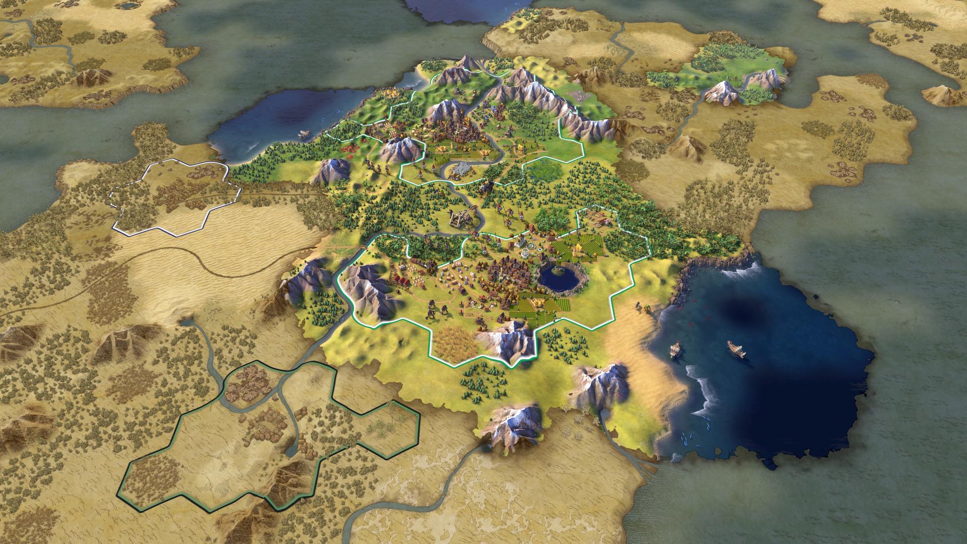 Скриншот к игре Sid Meier's Civilization VI: Digital Deluxe [v 1.0.0.257 + DLC's] (2016) PC | RePack от R.G. Механики