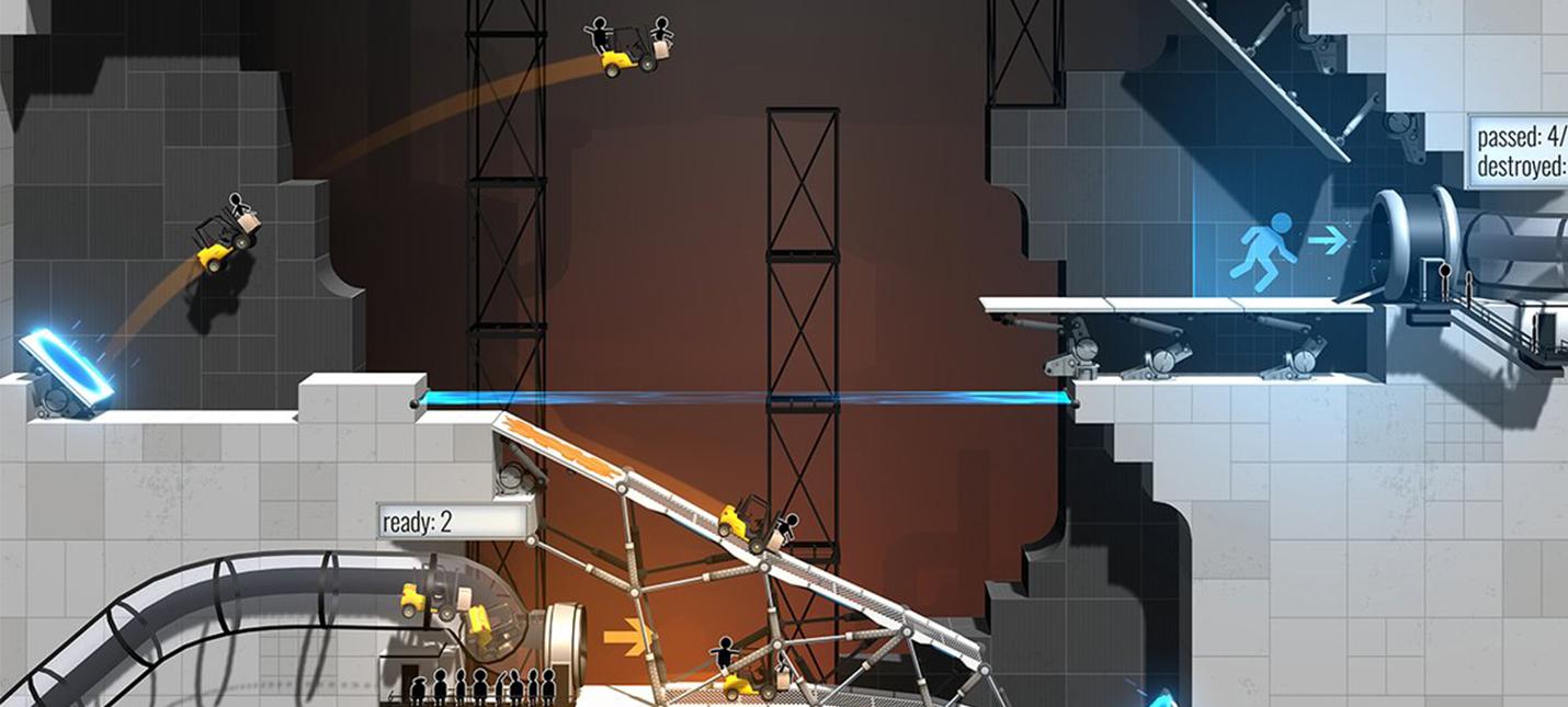 Скриншот к игре Bridge Constructor Portal (2017) PC | Repack от R.G. Механики