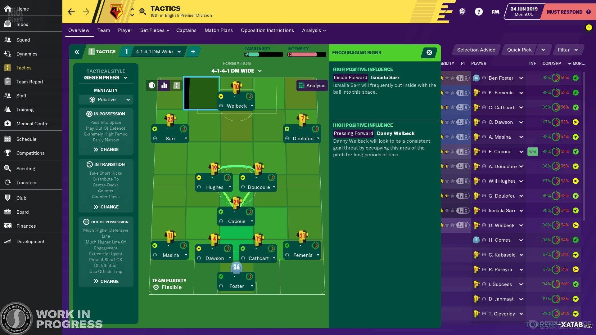 Скриншот к игре Football Manager 2020