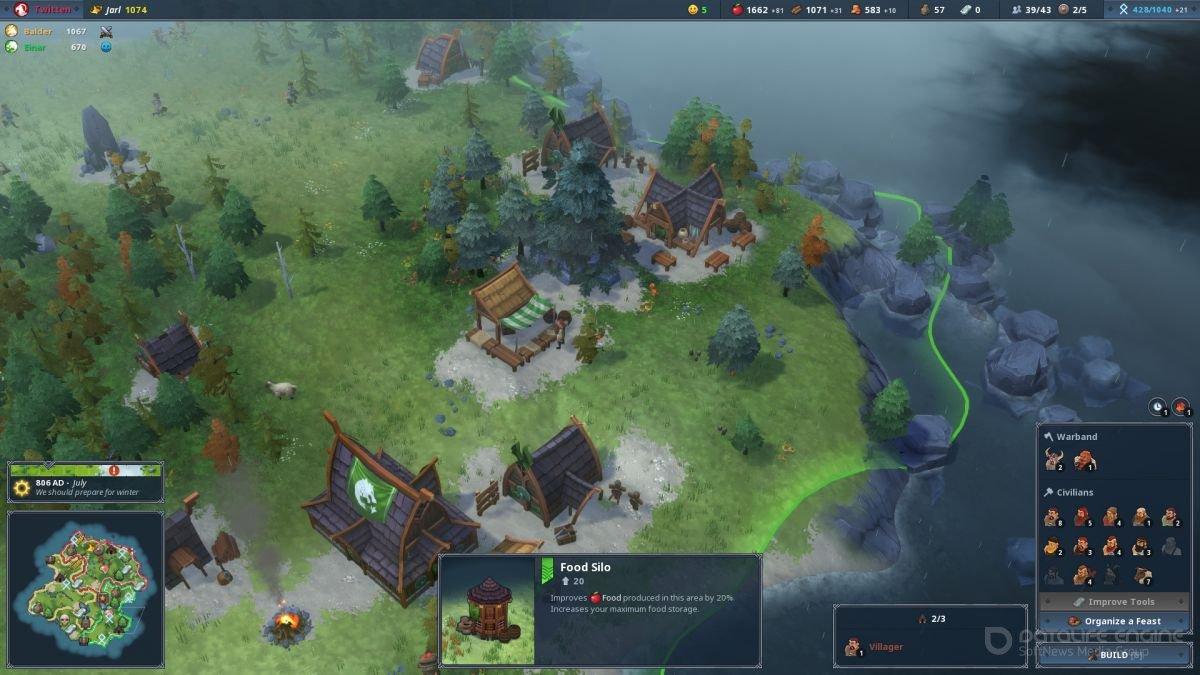 Скриншот к игре Northgard v.2.1.18 [GOG] (2018) скачать торрент Лицензия