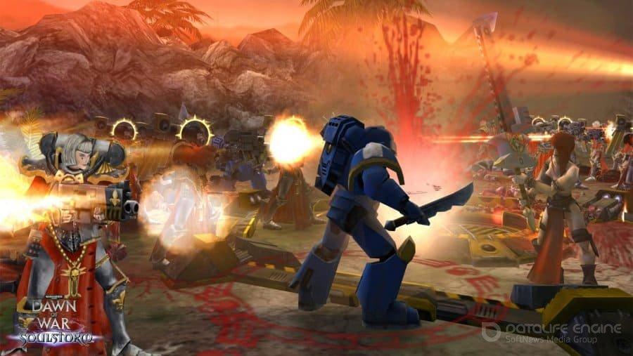 Скриншот к игре Warhammer 40000: Dawn of War – Soulstorm (2008) скачать торрент RePack